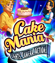 Klick-Management-Spiel: Cake Mania: Lights, Camera, Action!