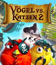 3-Gewinnt-Spiel: Vögel gegen Katzen 2