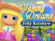 Jetzt das 3-Gewinnt-Spiel Yummy Dreams: Jelly Rainbow kostenlos herunterladen und spielen