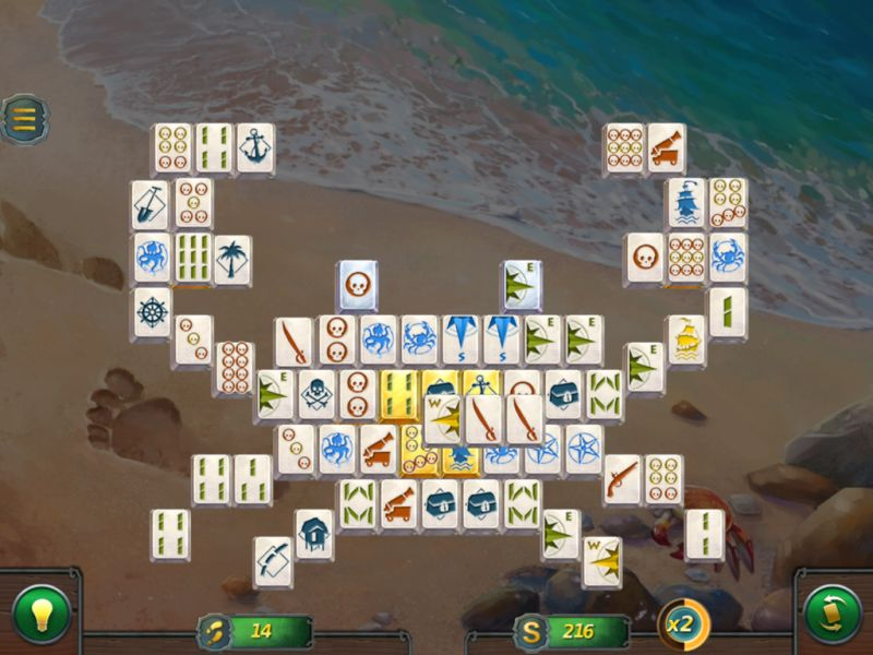 mahjong-gold-2-pirates-island - Screenshot No. 1