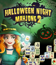 Mahjong-Spiel: Halloween Night Mahjong 2